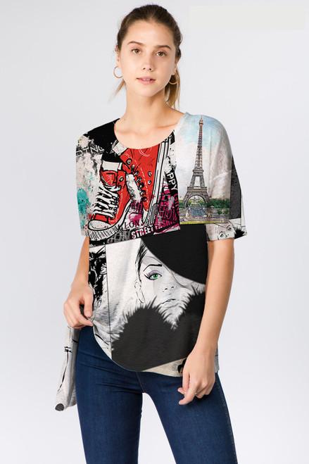Et' Lois Parisian Print Soft Knit Top