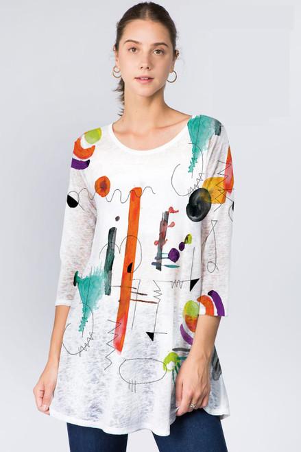 Et' Lois Squiggles & Lines Soft Knit Top