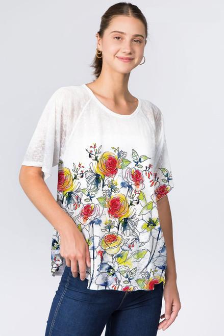 Et' Lois Rose Garden Soft Knit Top
