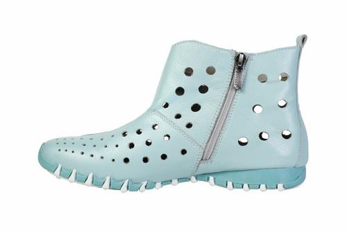Litfoot Leather Velcro & Zip Up Booties Shoe