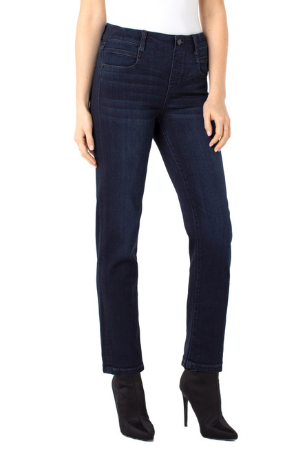 Liverpool Halifax Blue Gia Glider Slim Pull-On Jean with Pockets