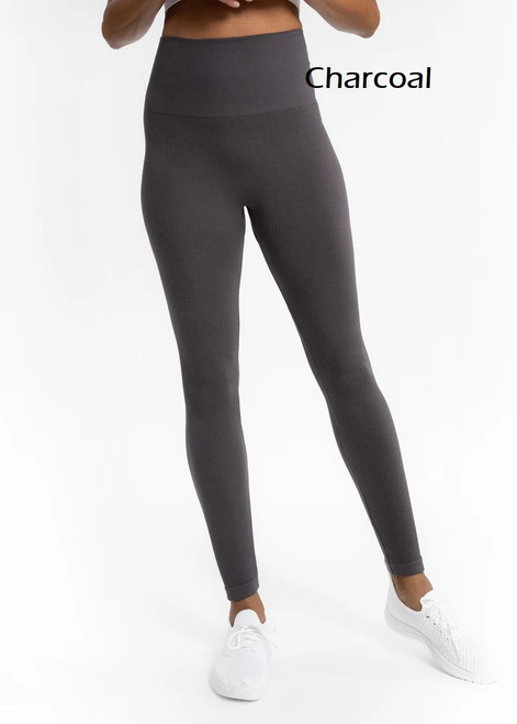 Elietian Ribbed Seamless High Waisted Legging