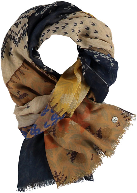 Fraas Navy Sustainable Lightweight Sheep Wrap Scarf