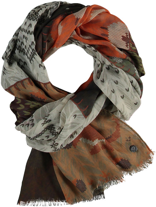 Fraas Olive Sustainable Lightweight Sheep Wrap Scarf