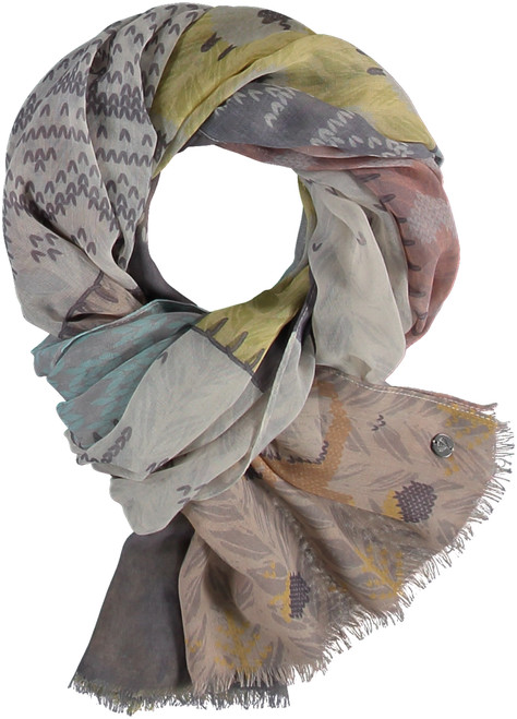Fraas Grey Sustainable Lightweight Sheep Wrap Scarf