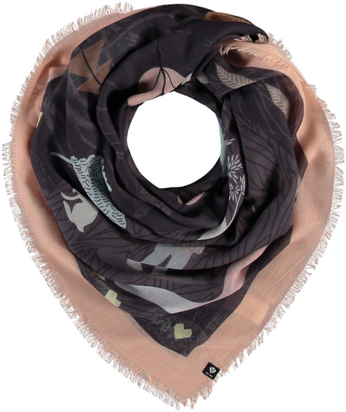 Fraas Pink & Charcoal Sustainable Oversized Forest Square Scarf