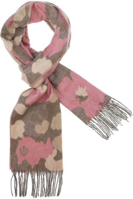Fraas Pink Sustainable Camo Floral Cashmink Scarf
