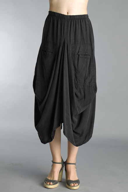 Tempo Paris Black Tencel Bubble Skirt