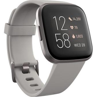 Fitbit Versa 2 Health & Fitness Smartwatch - Stone & Mist Gray Aluminum