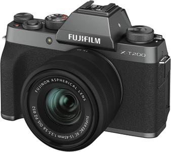 Fujifilm X-T200 Mirrorless Digital Camera (with XC15-45mm Lens) - Dark Silver