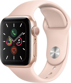 Apple Watch Series 5 GPS 40mm Gold Aluminum Case with Pink Sand Sport Band - Gold Aluminum