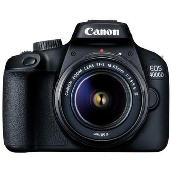 Canon EOS 4000D Kit [18-55 III] DSLR Camera, Wi-Fi Enabled, International Version - Black