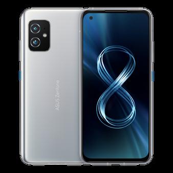 Asus Zenfone 8 ZS590KS 5G Dual 128GB 8GB RAM Factory Unlocked (GSM Only | No CDMA - not Compatible with Verizon/Sprint) International Version - Silver