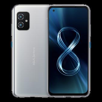 Asus Zenfone 8 ZS590KS 5G Dual 256GB 8GB RAM Factory Unlocked (GSM Only | No CDMA - not Compatible with Verizon/Sprint) International Version - Silver