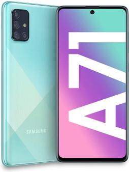 Samsung Galaxy A71 A715F 128GB 6GB Dual-SIM GSM Unlocked Phone (International Variant/US Compatible LTE) - Prism Crush Blue