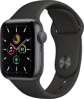 Apple Watch SE GPS 40mm Space Gray Aluminum Case with Black Sport Band | MYDP2