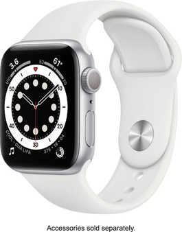 Apple Watch Series 6 GPS 40mm Silver Aluminum Case with White Sport Band | MG283