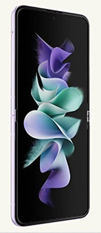 Samsung Galaxy Z Flip 3 F7110 5G 128GB 8GB RAM Factory Unlocked (GSM Only | No CDMA - not Compatible with Verizon/Sprint) International Version – Purple