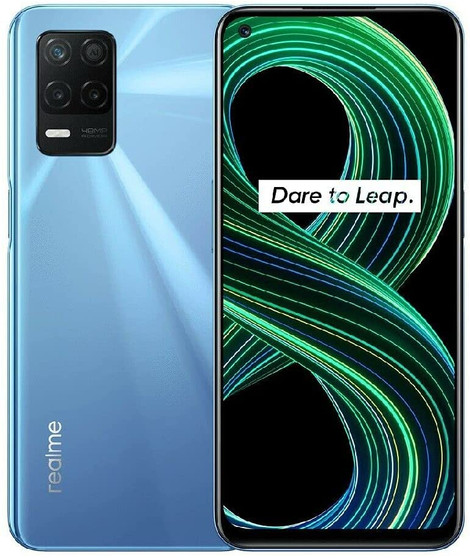 Realme 8 5G 128GB 8GB Factory Unlocked (GSM Only | No CDMA - not Compatible with Verizon/Sprint) International Version-Blue Supersonic