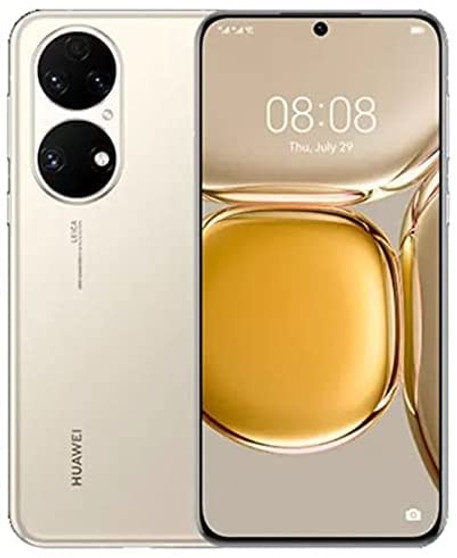 Huawei P50 Pro JAD-AL50 512GB 8GB RAM Factory Unlocked (GSM Only   No CDMA - not Compatible with Verizon/Sprint) No Google Play Installed China Version – Gold