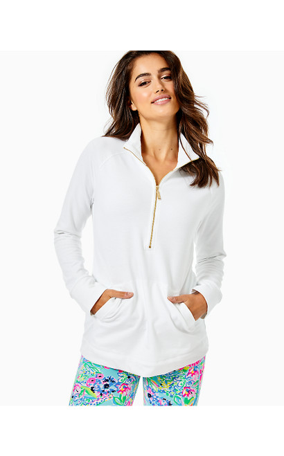 UPF 50+ SKIPPER POPOVER - RESORT WHITE