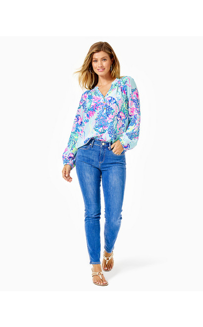 SOUTH OCEAN HIGH RISE SKINNY - CARIBBEAN BLUES WASH