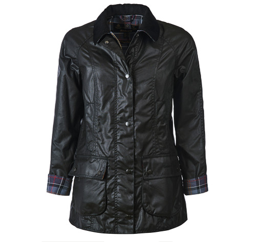 BEADNELL WAX JACKET IN BLACK BY BARBOUR