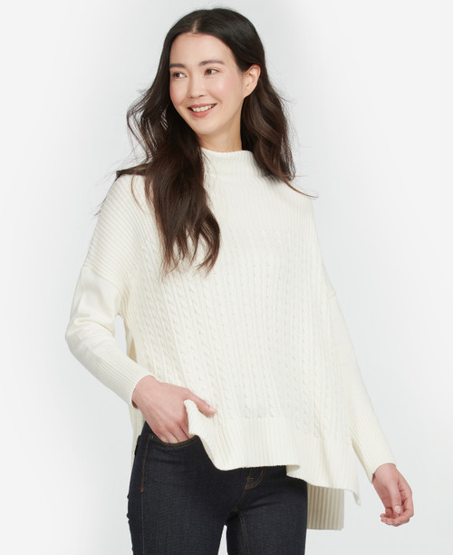 GUERNSEY STITCHED CAPE - CREAM BY BARBOUR