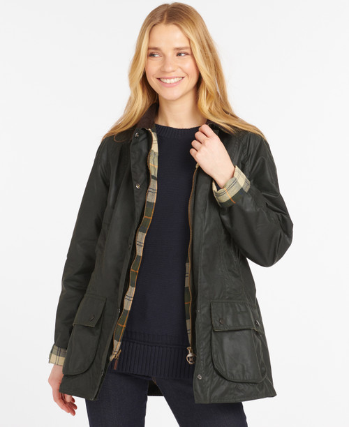BEADNELL WAX JACKET - SAGE BY BARBOUR