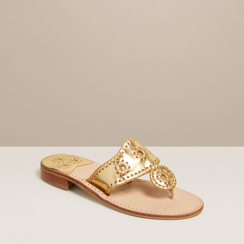 JACKS FLAT IN GOLD BY JACK ROGERS