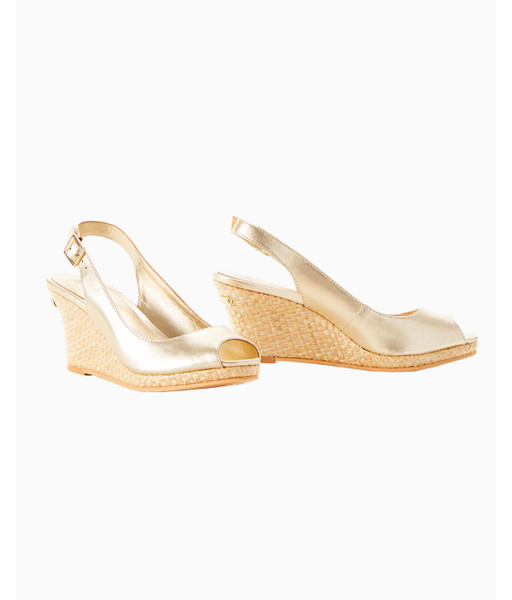 GIGI WEDGE - GOLD METALLIC