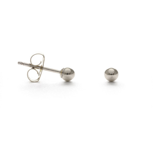 3MM Ball Studs - Sterling Silver
