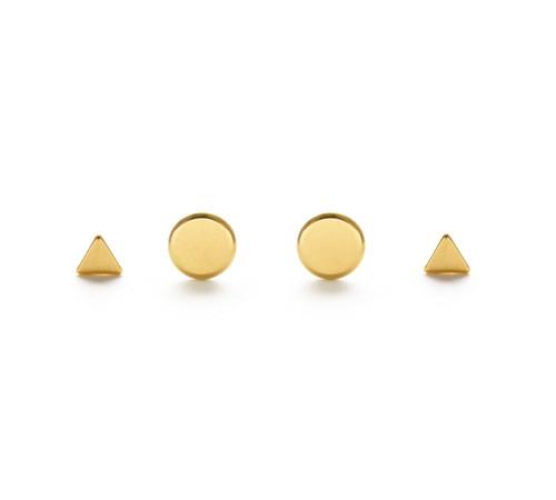 Geometric Combo Studs - Gold