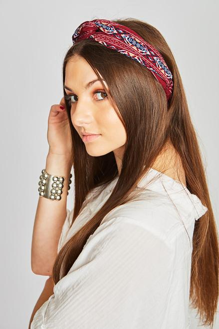 Boho Headband - Burgundy