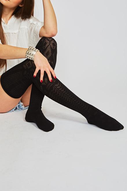 Spring Thigh High - Black