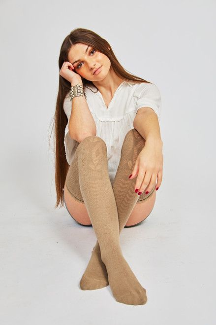 Spring Thigh High - Taupe