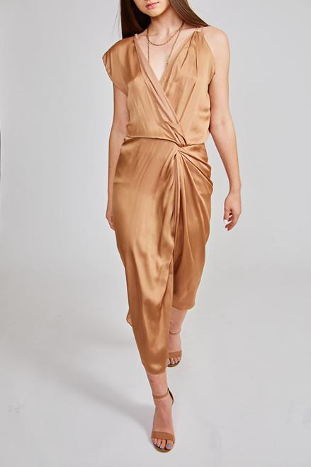 Side Step Dress - Gold