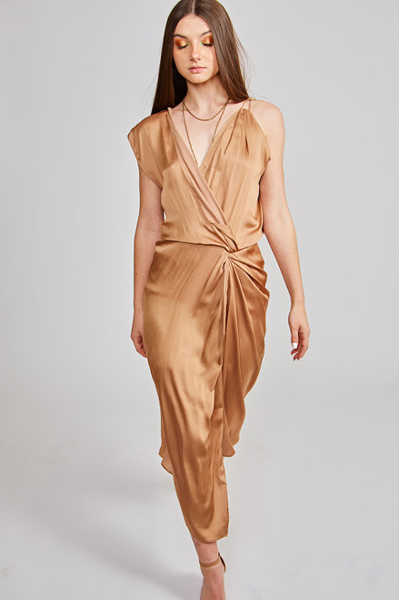 Side Step Dress - Gold