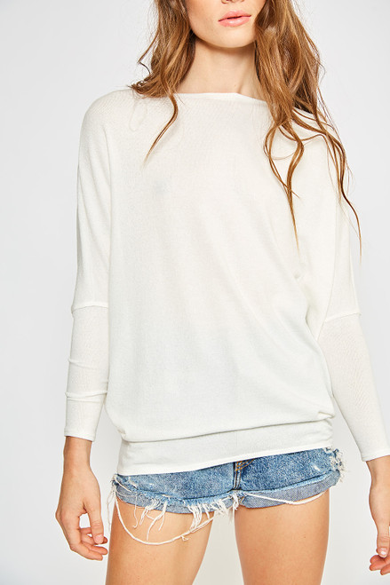 Dolman Sleeve Top - White