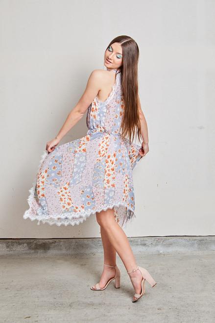 Harlow Dress - Lavender Multi