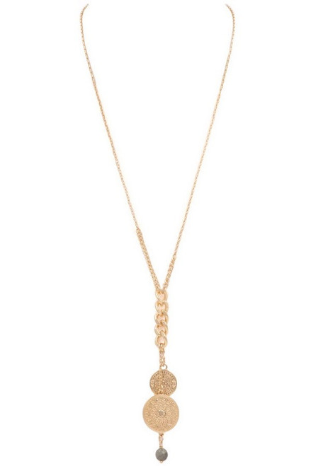 Charm & Chain Necklace - Gold