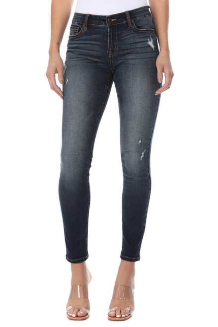Jude Mid Rise Skinny Ankle - Determination DK