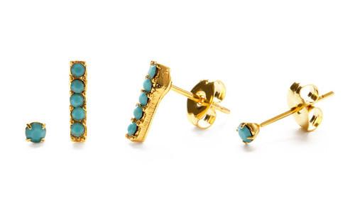 Victoria Stud Combo Set - Turquoise