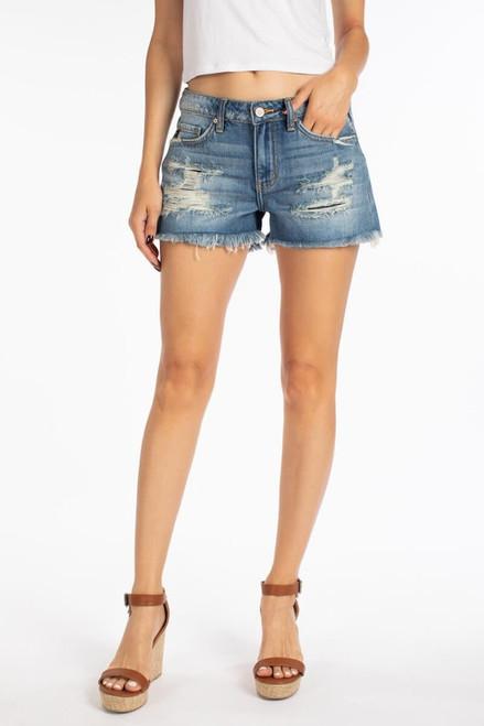 Mid Rise Boyfriend Shorts - Medium