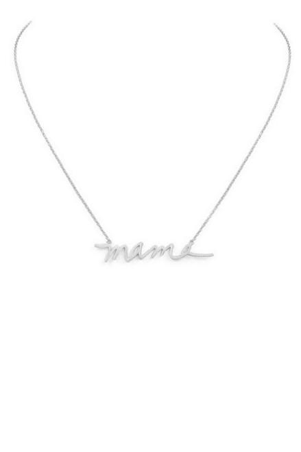 """MAMA"" Necklace - Silver"