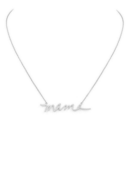 """MAMA"" Necklace - Silver"
