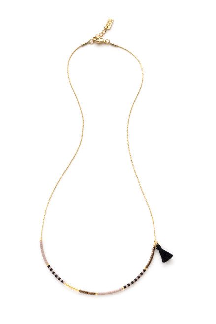 Japanese Seed Bead Necklace - Pepper