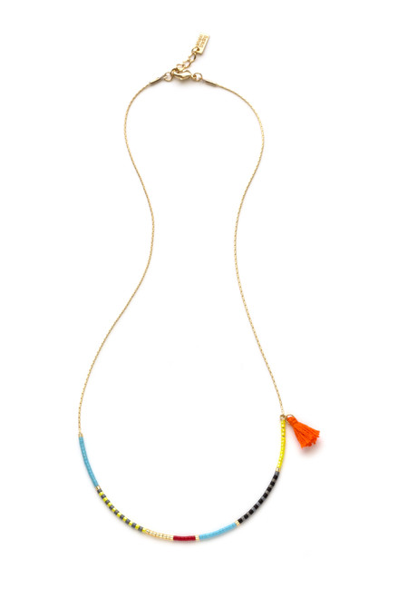 Japanese Seed Bead Necklace - Fiesta