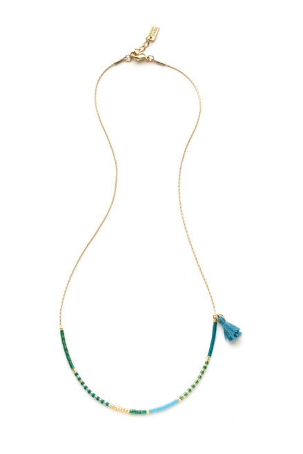 Japanese Seed Bead Necklace - Seashore