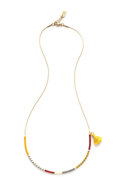 Japanese Seed Bead Necklace - Saffron